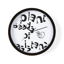 plantseedsresistance1 Wall Clock