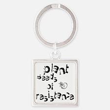 plantseedsresistance1 Square Keychain