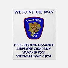 199th-Swamp-Fox-motto Throw Blanket
