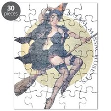 Vintage Salem Witch Puzzle