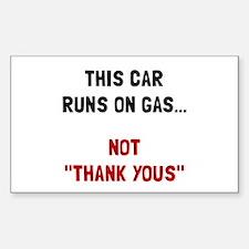 Car Runs Gas Decal