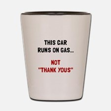Car Runs Gas Shot Glass