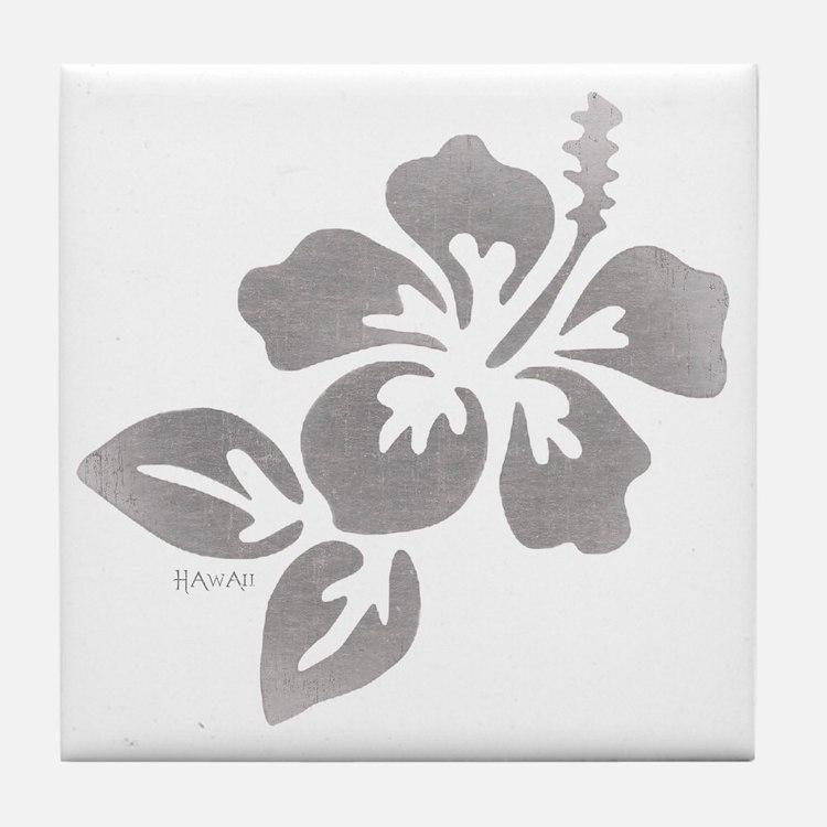Hawaiian Flower Tile Coaster