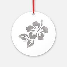 Hawaiian Flower Round Ornament