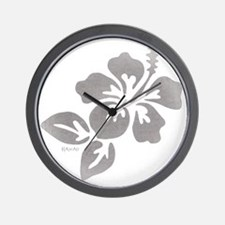 Hawaiian Flower Wall Clock