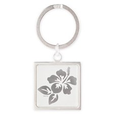 Hawaiian Flower Square Keychain