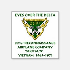 """Eyes-Over-The-Delta Square Sticker 3"""" x 3"""""""