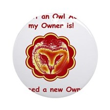 cafepress owl Round Ornament