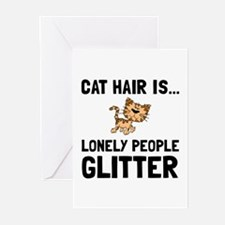 Cat Hair Greeting Cards