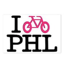 2-bike phl cafe press lg. Postcards (Package of 8)