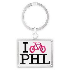 2-bike phl cafe press lg.eps Landscape Keychain