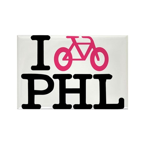 2-bike phl cafe press lg.eps Rectangle Magnet