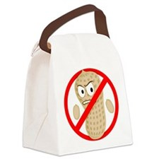 No Peanuts Food Allergy Button of Canvas Lunch Bag