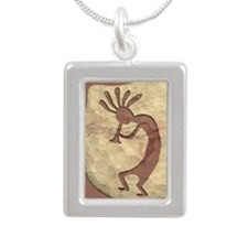 kokopelli_left Silver Portrait Necklace