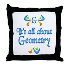 About Geometry Throw Pillow