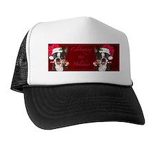 boston terrier Chrstmas  cofffee mug Trucker Hat