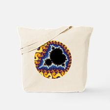 Mandelbrot round trans Tote Bag
