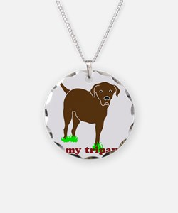 I Love My Tripawd Front Leg  Necklace