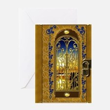 2-golden-sky-book Greeting Card