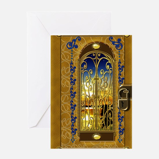 2-golden-sky-book Greeting Card