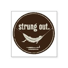 "Strung Out Square Sticker 3"" x 3"""