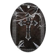 Gothic-black-book Oval Ornament