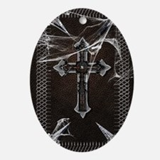 Gothic-black-book Oval Ornament