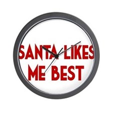 SANTA LIKES ME BEST Wall Clock