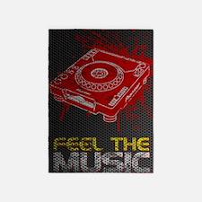Feel The Music Pioneer CDJ Poster 5'x7'Area Rug