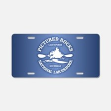 Pictured Rocks (rd) Aluminum License Plate