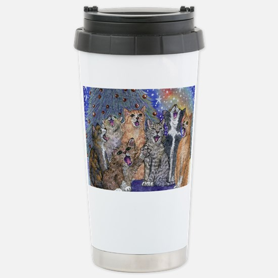Meowy Christmas Stainless Steel Travel Mug