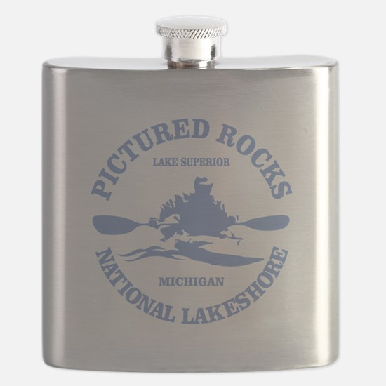 Pictured Rocks (rd) Flask