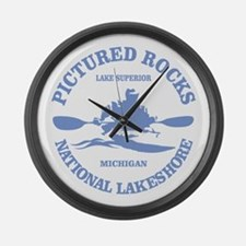 Pictured Rocks (rd) Large Wall Clock