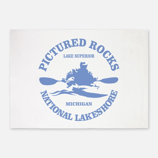 Pictured Rocks (rd) 5'x7'Area Rug