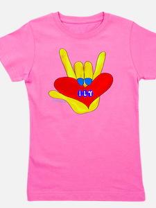 i_love_you_american_sign_language Girl's Tee