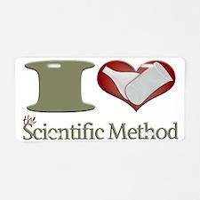 I Heart the Scientific Meth Aluminum License Plate