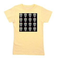 Day Of The Dead Sugar Skull Girl's Tee