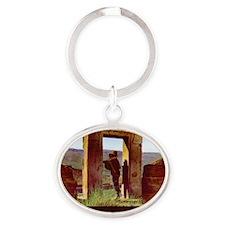 Bolivia9 Oval Keychain