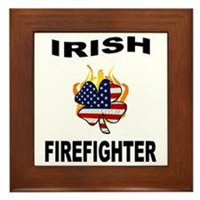 Irish Firefighter Framed Tile