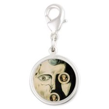 see_no_evil Silver Round Charm