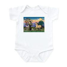 St. Francis & Buckskin horse Infant Bodysuit