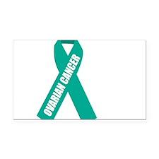 Ovarian-Cancer-Hope-blk Rectangle Car Magnet