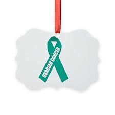 Ovarian-Cancer-Hope-blk Ornament