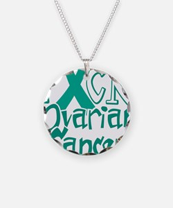 Fuck-Ovarian-Cancer-blk Necklace Circle Charm