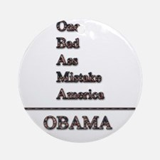 obama mistake tshirt png Round Ornament