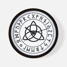 Triquetra Rune Shield.png Wall Clock