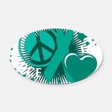 Ovarian-Cancer-PLC-blk Oval Car Magnet