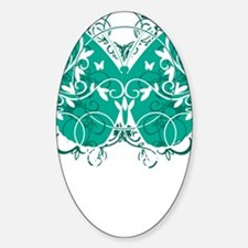 Ovarian-Cancer-Butterfly-blk Decal