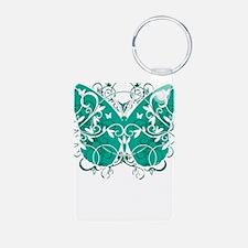 Ovarian-Cancer-Butterfly-b Keychains