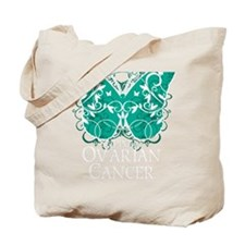 Ovarian-Cancer-Butterfly-blk Tote Bag
